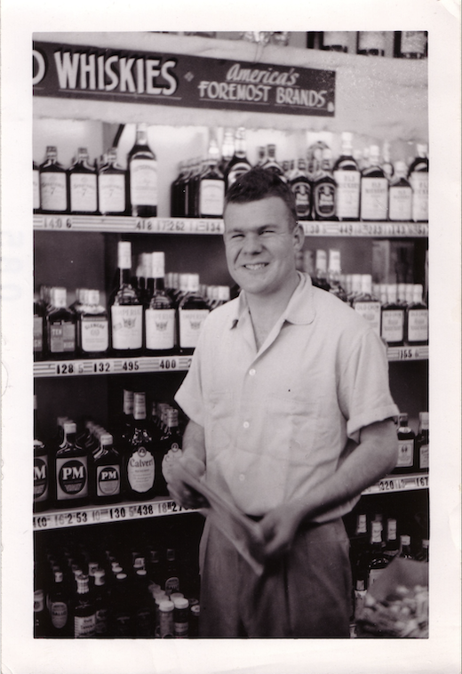 Dave Gold in his 1960s store.